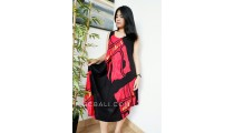 women long dress bali patterned rayon clothing design hand painting