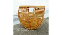 bamboo bags fan design summer season fashion handmade