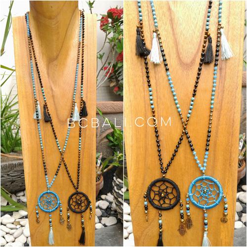 Dream catcher pendant necklace bead strand tassels handmade dream dream catcher pendant necklace bead strand tassels handmade mozeypictures Images
