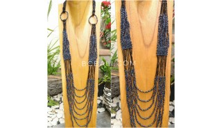long strand bead women necklaces fashion 2017 new style