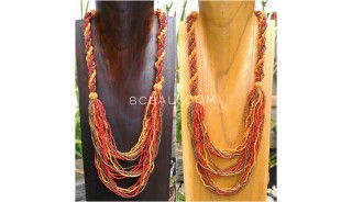 multiple strand beads necklace circle string mix color fashion