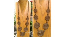 necklaces beads golden color7 mate circling spiral balinese design
