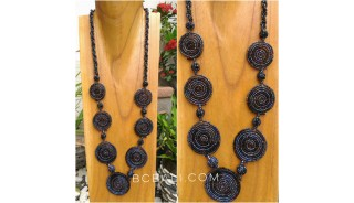 bali necklaces beads 7mate spiral handmade design shine color