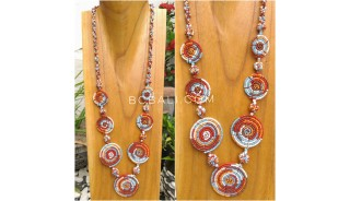 rainbow necklaces beads combination color 7mate spiral design