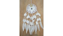 bali feather flower dream catcher crochet handmade white color