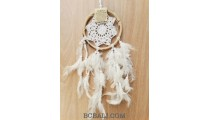 bali rattan circle handmade crochet dream catcher long feathers