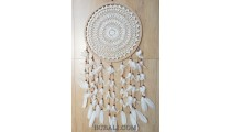 crochet dream catcher big circle multiple feathers bali handmade