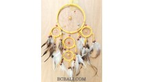 bali handmade dream catcher 5circle feather beads