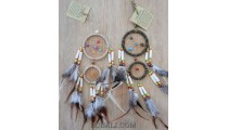 cow bone small dream catcher double circle bali handmade