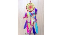 crochet design dream catcher colorful rainbow handmade