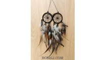 double circle black color dream catcher small made in bali