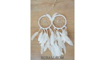 double circle dream catcher feathers small hanging wall