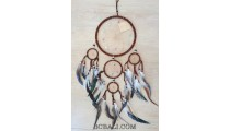 handmade dream catcher balinese style 5circle leather string
