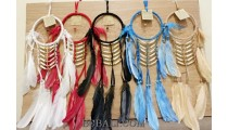 5color dream catcher native american style bone and feather