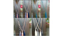 bali beads crystal necklaces tassels wholesale price 60 pieces free shipping