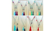 crystal beads necklaces charms tassels mix color 50 Pieces free shipping wholesale