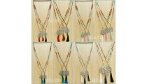 mix beads mala stone crystal tassels necklaces pendant silver bronze