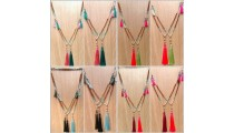mix beads rudraksha stone tassels necklaces new design shipping free