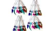 free shipping necklaces pendant dream catcher leather strings