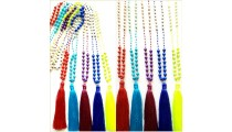 50 pieces free shipping all color mix stone beads tassels necklaces pendant