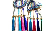 tassels necklaces beads crystal elephant caps bronze 50 pieces free shipping Mix