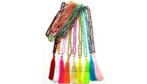 necklaces tassels beads crystal wholesale free shipping all color