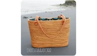 shopping beach handbags straw rattan full handwoven ethnic style