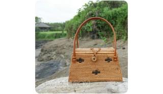 small coin bags motif rattan full handmade classic design
