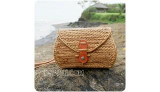 wallet purses batural straw rattan bags handmade women style