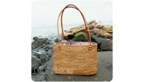 women shopping handbags rattan full motif handmade from bali