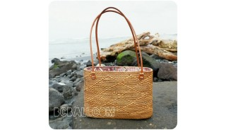 women shopping handbags rattan full motif handmade from bali