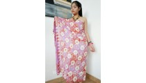 balinese handmade rayon batik sarongs hand stamp circle
