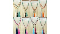 agate beads stone tassels necklace best seller design wholesale price