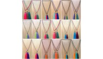 fashion necklace crystal beads tassels wholesale price free shipping