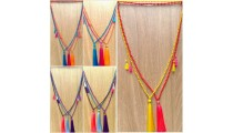 phyrus beads tassels necklaces pendant colorful free shipping 50 pieces
