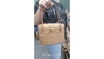 exotic hand woven rattan handbag ethnic design from bali