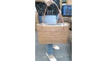 full large size hand woven ata grass straw handbag rattan from bali