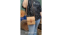 square handbag long handle hand woven ata grass straw bali