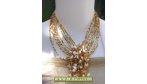 Necklace Fashion Beading mix Colors with Stone