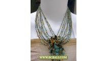 Fashion Beads Necklaces mix Colors with Stone