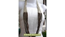 Long Fashion Necklace by Beading mix Wooden