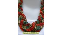 Seed Beading Necklace Mutli Colors