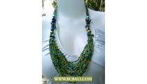 Multi Bead Layer Necklace Fashion