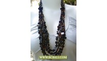 Black Necklaces Beads Layer
