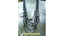 Bali Necklace Multi Strand Bead