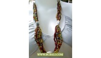 Layer Necklace Beads with Chain Fashion