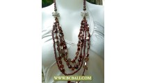 4 Strand Bcbali Necklace Beads Fashion