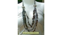 Bali Fashion Layered Beaded Necklace