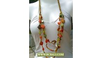 Necklaces Shells Nugets mix colors Fashion Beading