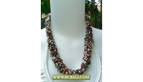 Chockers Seed Beaded coloring Fashion Necklace